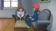 Shindou talking with Kirino GO 7 HQ
