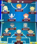 Formation de Collège Universel dans le jeu Inazuma Eleven GO