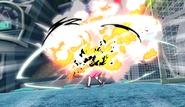 Mecha Endou explodes