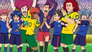 Japan dacing with Brazil