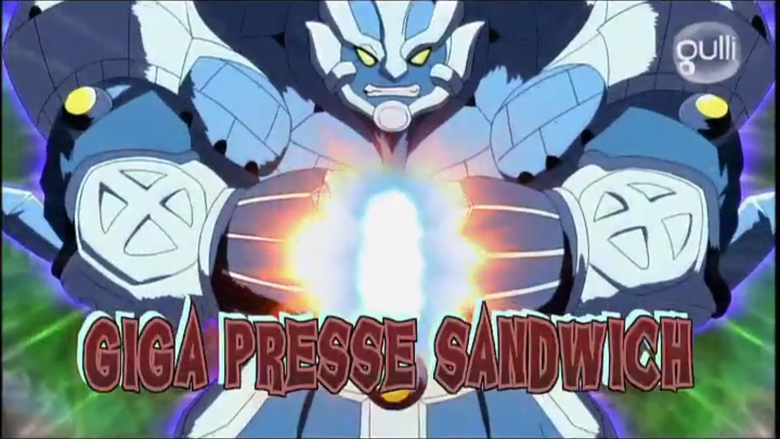 Giga Presse-Sandwich