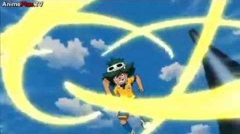 Inazuma Eleven GO Chrono Stone Episode 45 Torb's Keshin Armed