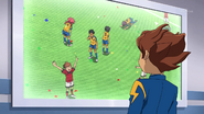 Tenma watching the old match GO 8