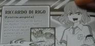 Riccardo Di Rigo en el manga