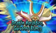 Dragón heráldico Guiverno Blanco 3DS