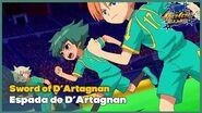 Sword of D'Artagnan Espada de D'Artagnan Los Chou Kinuns Inazuma Eleven - Orion no Kokuin