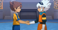 SARU shaking hands CS Game