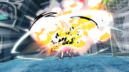 The explosion of Mecha Endou HQ