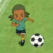 Yumu con el balón