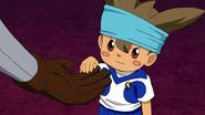 JP con el uniforme de Earth Eleven (Anime-DF)