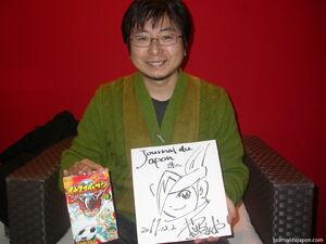 Tenya Yabuno, l'autor del manga d'Inazuma Eleven