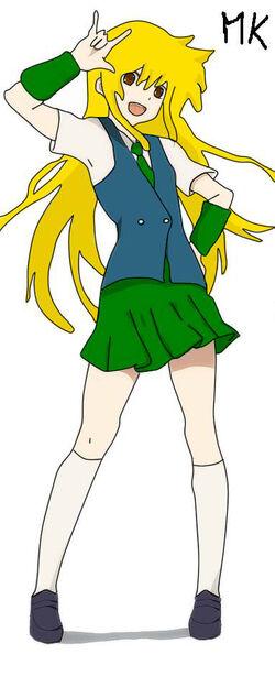 Meiko con el uniforme del mery times.jpg