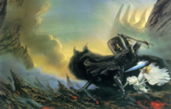 300px-John Howe - Morgoth vs Fingolfin.png
