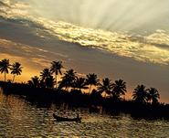 Everyday scene from Kerala Backwaters