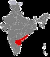 Andhra Pradesh Location