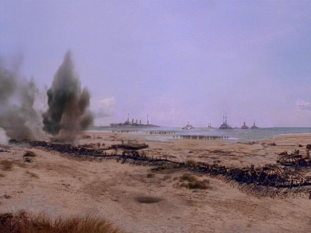 Allied beach