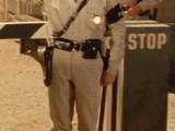 M.P. in Guard Hut