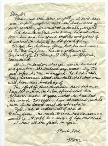 Marion's letter