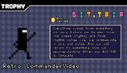 Retro Commander Video trophy