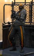 Militia member with grenade launcher