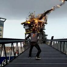 Delsin Blowing Up a Tower.jpg