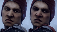 Comparision of good and evil Delsin