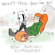 Infinity Train OST promo art by Owen Dennis