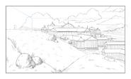 Corginia background sketch