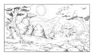 Corginia background sketch 6