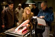 Inglourious Basterds Behind th scenes Eli Roth and Diane Kruger