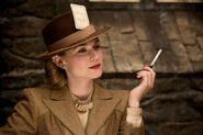 Diane Kruger with a cigarette and card