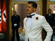 Brad Pitt with a champagne glass