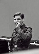 Daniel Brühl with a cigarette