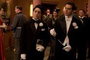 Omar Doom and Eli Roth at the cinema