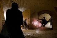 Inglourious Basterds Omar Doom shoots extras