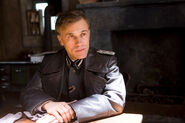 Christoph Waltz at the table