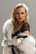 Diane Kruger as Bridget von Hammersmark with a Walther photoshoot