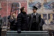 Inglourious Basterds Behind the Scenes Lawrence Bender August Diehl on set