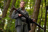 Til Schweiger as Sgt Hugo Stiglitz Inglourious Basterds MG42