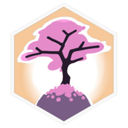 Sakura Tree-badge