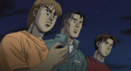 S4E20 Takumi, Matsumoto and Kenta watch the race