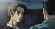 S4E16 Takumi talks with Matsumoto about Keisuke's race