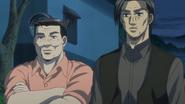 S6E4 Kubo and Go talk with Shinji at the finish