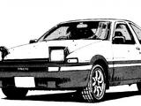 Takumi Fujiwara's Toyota AE86