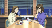 S4E07 Kyoko and her friend at a cafe