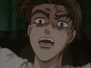 S1E01 Takumi terrified because of Iketani's driving