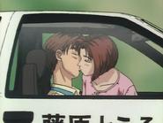 S1E21 Takumi and Natsuki kiss in the Eight-Six