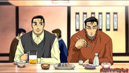 Bunta and Yuichi at a restaurant in Fourth Stage