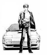 Ryosuke Posing with Car Manga