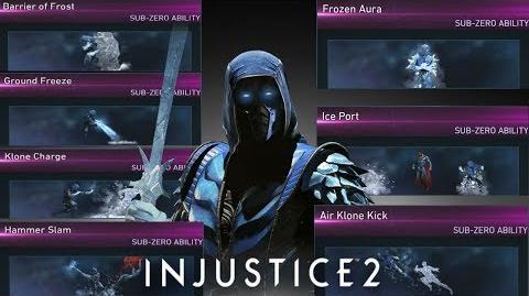Injustice 2 Sub-Zero All Unlockable Abilities